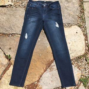KENSIE Effortless Ankle Mid Rise Skinny Jeans